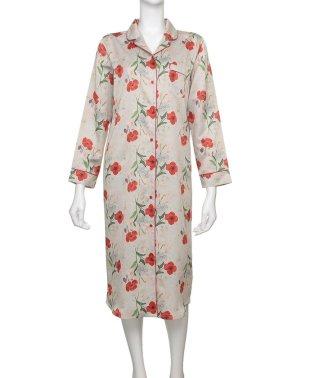 【ルームウェア】 コットンサテン パジャマ ドレス [BMコラボ] (C282)
