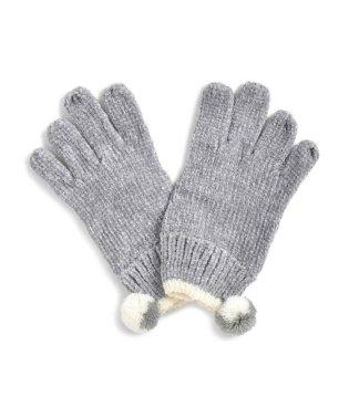 ボンボン付き手袋