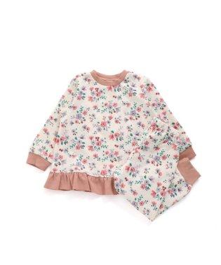 花柄ニットキルトパジャマ 10分丈