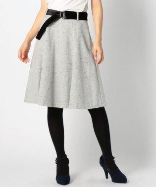 ベロアベルトツイードスカート