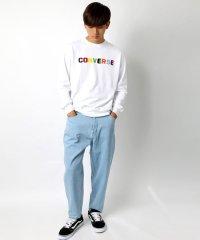 【CONVERSE】コンバース カラフルロゴ刺繍 裏毛 トレーナー