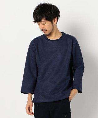 フェイクスエード 3/4スリーブTシャツ