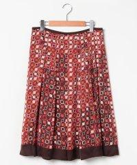 【大きいサイズ】【セットアップ対応】幾何柄パネルプリント スカート