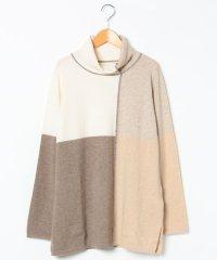 【大きいサイズ】GOBIカシミヤ インターシャセーター