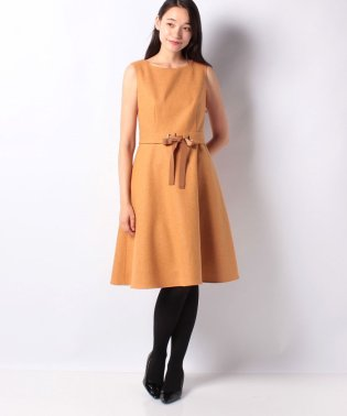 ストレッチツィード ノースリーブドレス