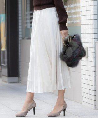 【大きいサイズ】ブライトサテンプリーツスカート