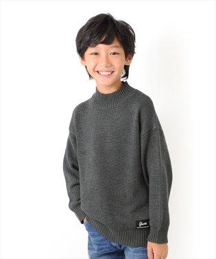 ローゲージ・モックネックセーター