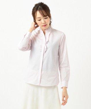 【リクルート対応/洗える】ストレッチシャーティングフリルシャツ
