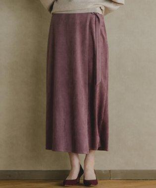【雑誌掲載】【socolla】スウェードラップスカート