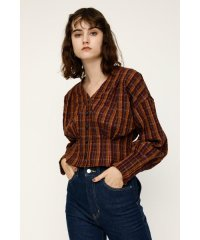 TOSCA CHECK TUCKED TOPS
