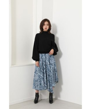 Ethnic Pattern Flare Knit OP