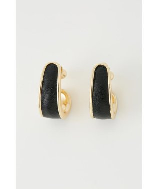 F leather Earring