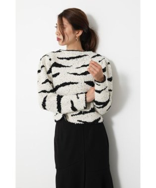 Zebra Pattern Knit TOP