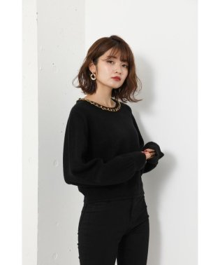 Chain N/C Knit TOP
