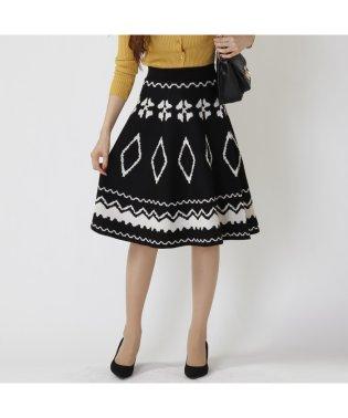 ニットジャガードスカート