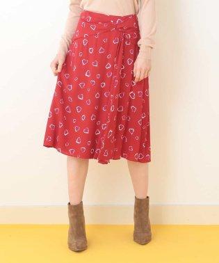 ハートプリントスカート