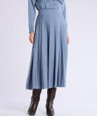 《大きいサイズ》ニットプリーツスカート
