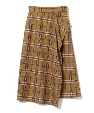 Ray BEAMS / チェック ラッフル スカート