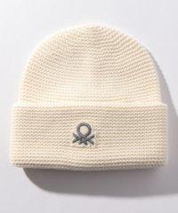 ループロゴ入り柄編みニットワッチキャップ・ニット帽
