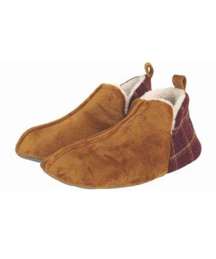 かかと切替ブーツ Lサイズ ブラウン