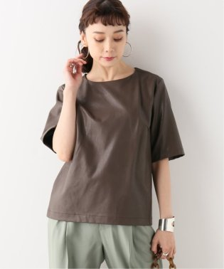 【THE NEWHOUSE/ザ ニューハウス】MAJORELLE LEATHER TOP:ブラウス