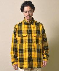 SU: ビッグシルエット ヘビー チェック ネルシャツ