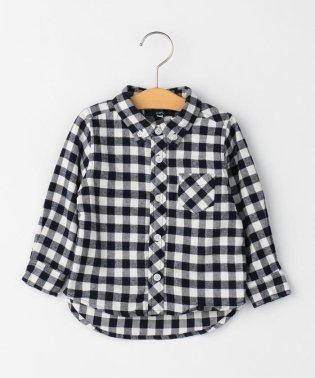 SHIPS KIDS:ネル チェック ボタンダウン シャツ(80~90cm)