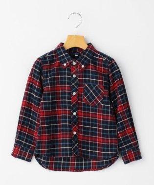 SHIPS KIDS:ネル チェック ボタンダウン シャツ(100~130cm)