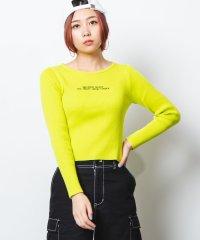 WEGO/Uネックロゴセーター