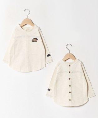 【FRUIT OF THE LOOMコラボ】 後ろボタンラグランTシャツ
