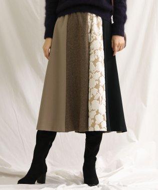 パッチワークギャザースカート