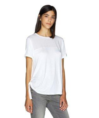 サイドリボン異素材Tシャツ・カットソー