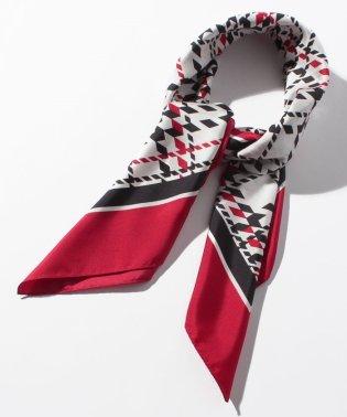 シルクツイル/千鳥チェック柄スカーフ