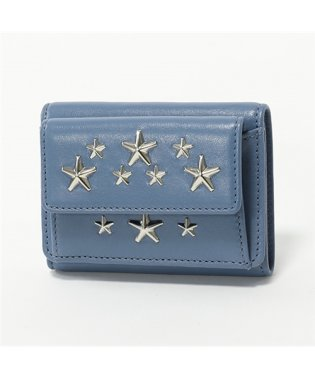 NEMO CST レザー スタースタッズ 三つ折り財布 ミニ財布 豆財布 STONE-BLUE レディース