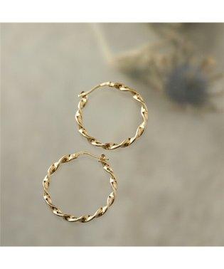 LD ESM 3 Esmeralda エスメラルダ Large twisted hoop earrings ピアス フープ ゴールド レディース