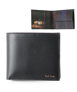 M1A 4833 A40017 レザー 二つ折り財布 マルチストライプ ミニクーパープリント 79/ブラック他 メンズ