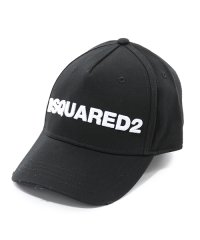D2 BCM0028 05C00001 M063 立体刺繍 ベースボールキャップ 帽子 ダメージ加工 カラーNERO-BIANCO メンズ
