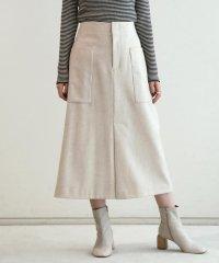 ウールフランネル トラペーズスカート