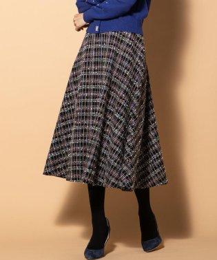 【WEB別注】《セットアップ対応》カラーMIXファンシーフレアスカート