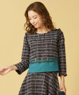 【WEB別注】《セットアップ対応》カラーMIXファンシー裾配色切り替えプルオーバ