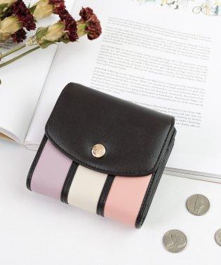 Clelia クレリア 財布 レディース 二つ折り財布 フラップ コンパクト L字ファスナー カラフル カジュアル ブランド
