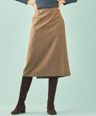 ウールツイル Iラインスカート