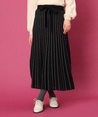 【WEB限定プライス/WEBサイズ(LL)あり】ウエストリボンニットスカート