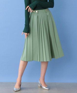 カラープリーツスカート