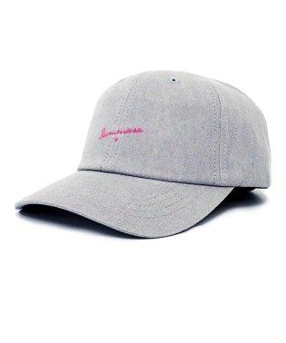 キャップ レディース グレー  帽子 「刺繍 ロゴ コットン キャップ」大きめ 大きいサイズ メンズ 春夏 帽子 レディース帽子 キャップ スポーツ フリーサイ