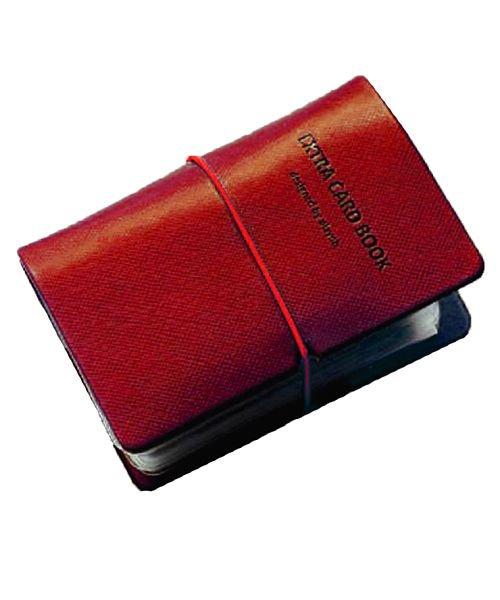 (exrevo/エクレボ)カードケース 名刺入れ レディース 縦入れ 30ポケット 両面収納 大量収納 クリア シンプル 革 レザー ポイントカード インデックス付 かわいい ギフト/ユニセックス ピンク