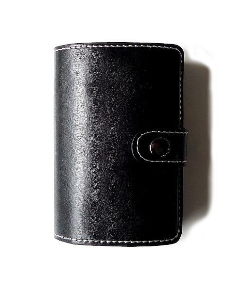 (exrevo/エクレボ)カードケース 「スキミング防止 アルミ レザー マネークリップ スライド クレジットカード ケース」 スリム メンズ 財布 小銭入れ 磁気防止 コンパクト 革/ユニセックス ブラック