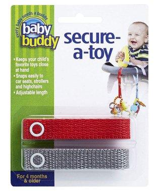 Baby Buddy ベビーバディ おもちゃストラップ2色各1本組 レッド/グレー