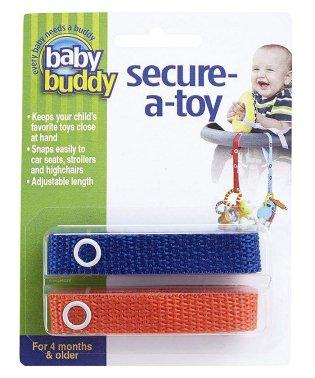 Baby Buddy ベビーバディ おもちゃストラップ2色各1本組 ロイヤルブルー/オレンジ