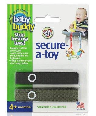 Baby Buddy ベビーバディ おもちゃストラップ2色各1本組 ブラック/オリーブ